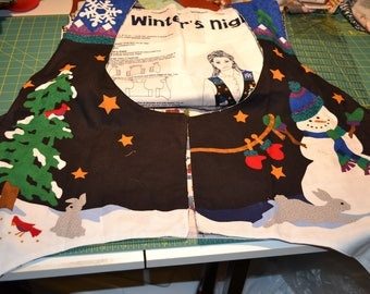 VIP Dreamspinners A Winter's Night Vest , Unassembled Panel