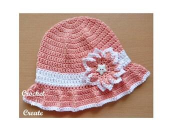 Cotton Floppy Sun Hat Crochet Pattern (DOWNLOAD) CNC42