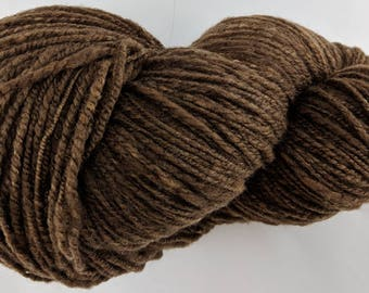 Soft Shetland Wool Brown Handspun Yarn