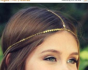 SUMMER SALE CHAIN Headpiece- head chain headdress boho chic head piece / head chain / headband