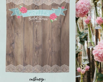 Rustic Wood Background Photo Booth, Wood Backdrop, Rustic Bridal Shower Backdrop,  Rustic Bride Backdrop / W-A10-TP REG1 AA3