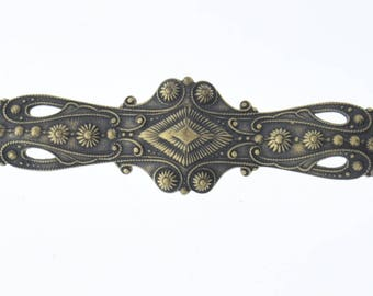 Bar Brass Stamping and antiqued, sold by each 04223AG