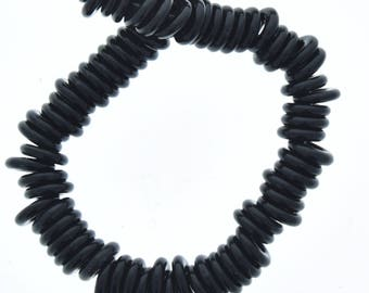 donut shape, spacer beads 10mm , sold by 12 inch strand  08749.91