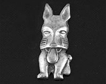Scotty Dog Charm, Made in USA, pack of 6