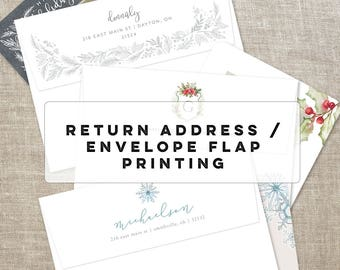 Return Address Envelope Flap Printing for your Photo Holiday Cards