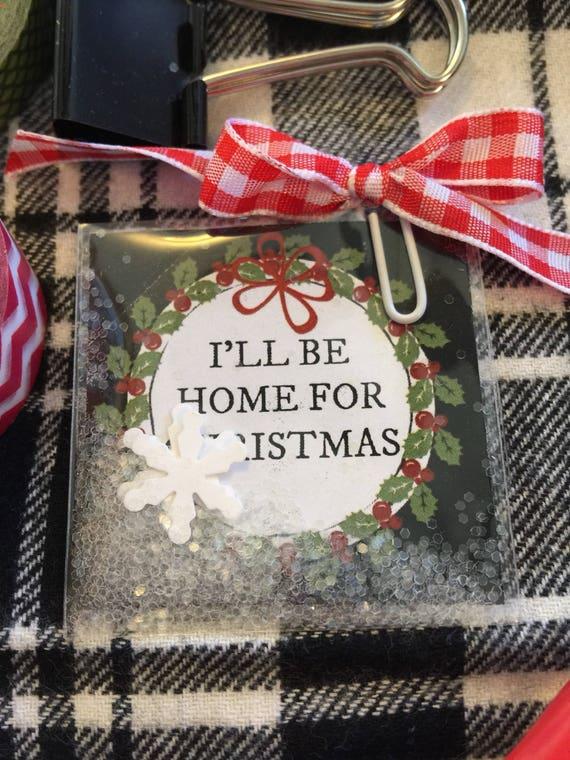 "Planner Christmas  Shaker Card - 2"" x 2"""