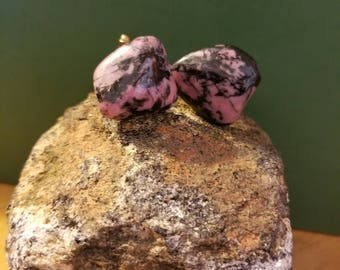 Rhodonite mens cuff links