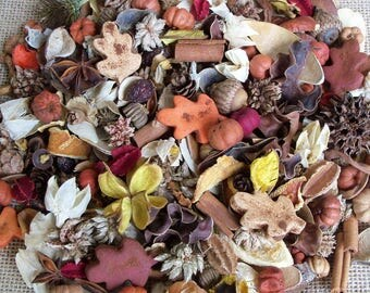 Autumn in the Country Potpourri, Leaves, Rustic, Farmhouse Decor, Saltdough, Room Scent, Fall Potpourri, Botanicals, Refresher Oil Included