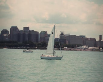 Sail Boat on Water During the Day Color Photo Nature FREE US SHIPPING