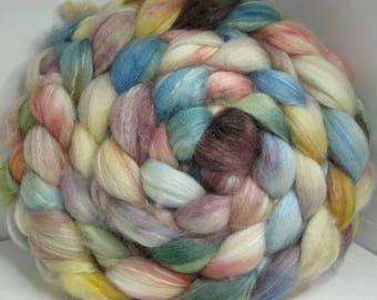 Sale Optim, Camel, Bombyx Silk 40/40/20 Roving Combed Top - 5oz - Soft Sea 1