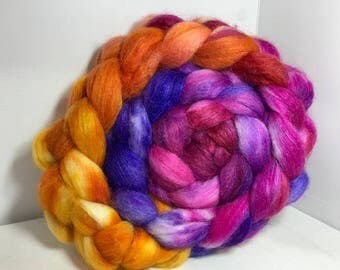 Spinning Fiber Merino SW/Bombyx/Mohair 70/15/15 - 5oz - Eagle Claw Cactus Bloom 1