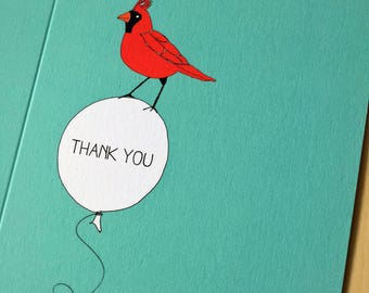 Bird Balloon Thank You Card