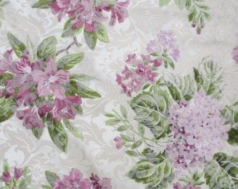 """12 Feet x 80"""" / beautiful floral drapery / lavender floral design / lavender hydrangias / One curtain made of 4 panels /"""