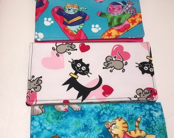Cat Themed Checkbook Covers