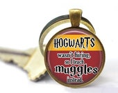ON SALE - Quote, Charm Keychain, Gifts for Teachers, Geeky Gift, Hogwarts, Gifts for Book Lovers, Harry Potter Gifts for Her, Teacher Gifts