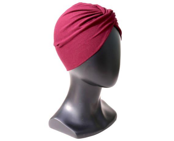 Burgundy Turban Hat