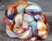 ENIGMA 1 - Mulberry Silk Brick Cultivated Undyed Bombix Spinning Silk, Silk Top, Silk Roving, Felting Silk, Nuno Felting, Spinning Supplies