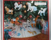 Vintage 1989 Butterick 4351 The Merry Goes Around Carousel Christmas Tree Skirt and Ornaments Wendy Everett Pattern