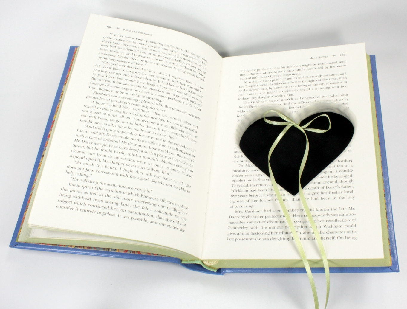 Pride and Prejudice Handmade Ring Holder Hollow Book Engagement