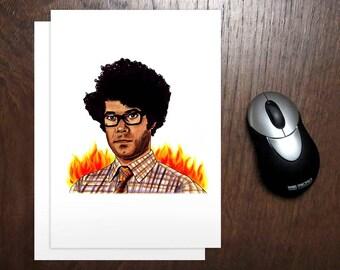IT Crowd Card | Maurice Moss Emails Fire Dept | Richard Ayoade | Geeky Greeting Card | Computer Nerd Card | Geek Cards