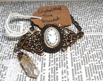Crystallized Time: A Steampunk Style Bracelet