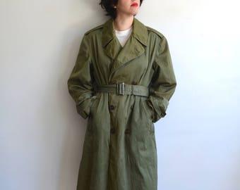 Military trench coat   Etsy