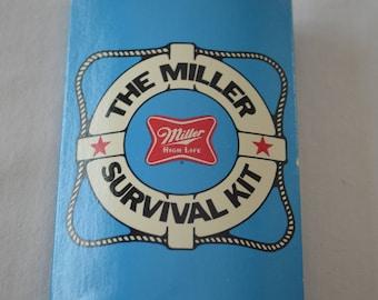 Vintage MILLER BEER Survival Kit advertising 1980's