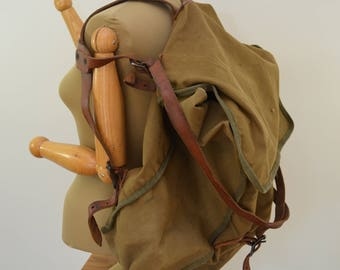 Vintage WOODS BAG & CANVAS giant back pack #1 Special 1950's made in canada