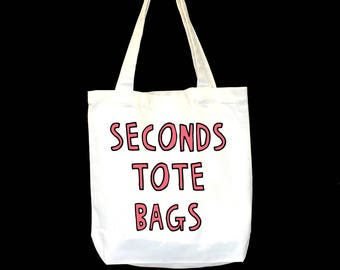 Seconds Tote Bag - Choose Your Design