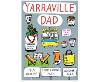 Father's Day Card - Yarraville Dad