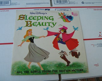 1963 Walt Disney's sleeping beauty all the songs from the motion picture Vinyl Record 33-1/3 rpm
