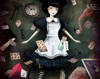 10% Off - Summer SALE Down the Rabbit Hole (Alice in Wonderland)  3/100 - Deluxe Edition Print