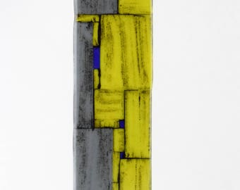 Gray and Yellow Sculpture