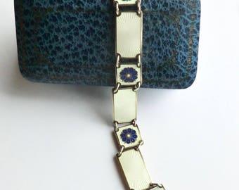 Vintage David Andersen Enamel Sterling Bracelet Norway Scandinavian Mod