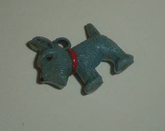 Scottie charm vintage plastic dog charms very old