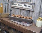 Miniature Dollhouse Rustic Bells Primitive Wooden Box