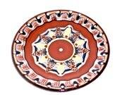 Hand Painted Bulgarian Folk Pottery Plate