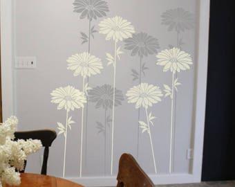 Flower Stencil Large Daisy Wall Stencil, Furniture Stencil, Floor Stencil,  Stencils For Painting