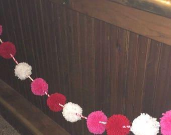Valentines Day Pom Pom Garland