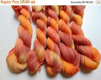 4th of July Sale Changing Leaves- 100 Organic Cotton Hand Dyed Variegated yarn
