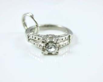 Vintage Sterling Silver Ring Charm
