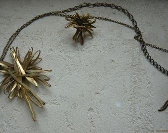 Sparkle Sissi steel strand necklace