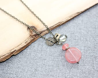 bijoux mode, collier court, bijoux fantaisie, cadeau bff, long necklace, collier marine, mode jewelry, style tassel, long Pendentif