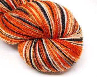 "Glam Rock Sparkle Sock Yarn - ""Walking With A Ghost"" -  Handpainted Superwash Merino - 438 Yards"