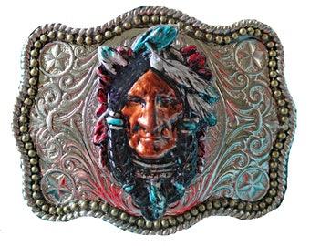 Unisex Southwestern Native American Style Belt Buckle