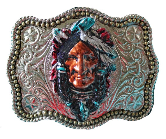 Unisex Southwestern Native American Style Belt Buckle