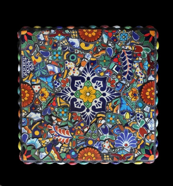 Mosaic Wall Decor, Trivet, or Table Decor Made With Talavera Tiles