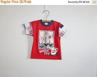 SALE // Vintage Red Garden T-Shirt