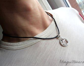 Anchor necklace, men necklace, necklace, anchor nautical sailor, sea, silver, for him, gift him, crewneck men,