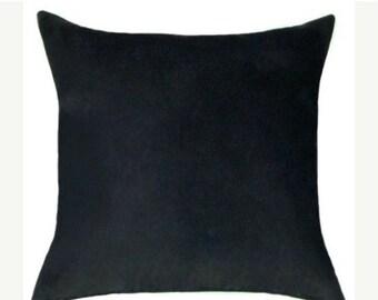 Black Throw Pillow -  Black Faux Suede Decorative Throw Pillow Free Shipping
